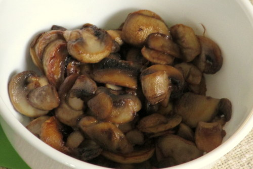 Mushrooms cooked for pizza