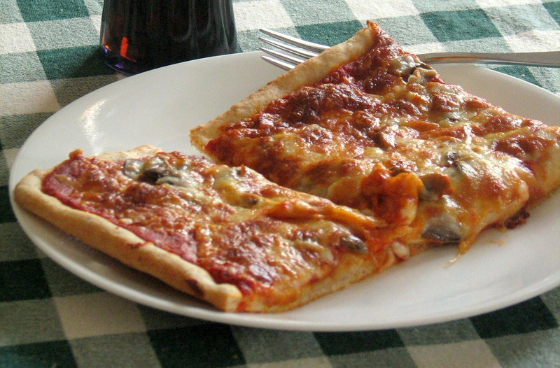 homemade pizza with cheese