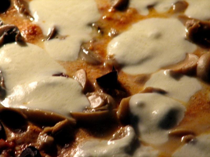 melting fresh mozzarella