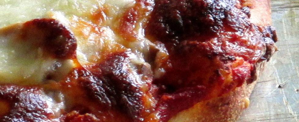 Homemade pizza store bought dough
